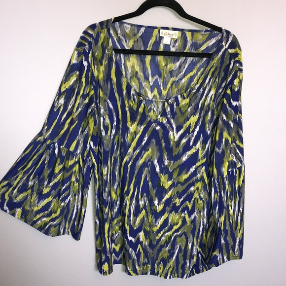 L'Amadei Blouse With Bellowing Sleeves Size 2X